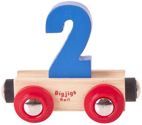 BigJigs Rail Name Number 2 , Cijferwagon 2