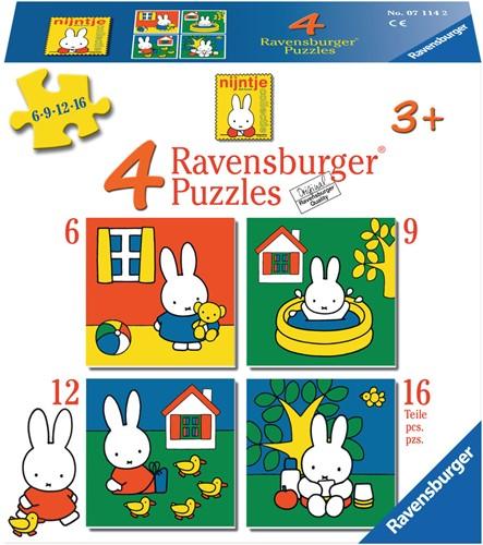 Ravensburger puzzle miffy 4puzzels 6+9+12+16p