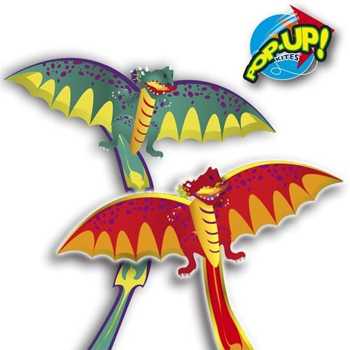Vlieger Rhombus Pop-Up Dragon