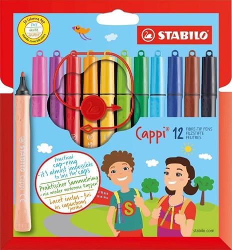 STABILO Cappi stylo-feutre Multicolore 12, 1