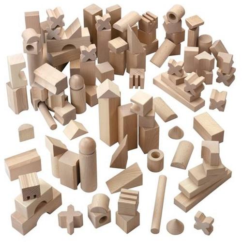 HABA Blocs de construction - Boîte de base: Super grand modèle (102 pièces)