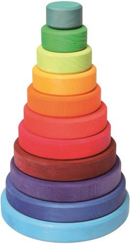 Grimm's La grande tour empilable en bois coloré
