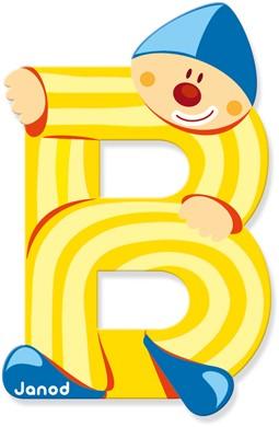Lettre clown B
