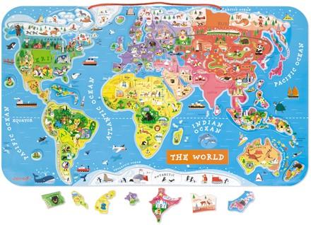 Puzzle Monde Magnétique en Anglais