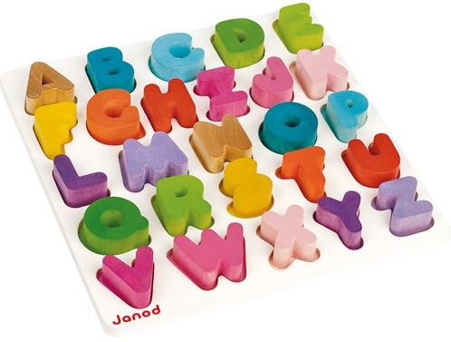 Puzzle Alphabet I Wood