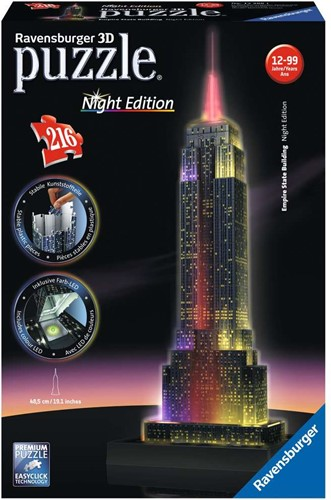 Ravensburger 3D puzzle Empire State Building - Night Edition 216p