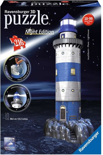 Ravensburger 3D puzzle Phare - Night Edition 216p