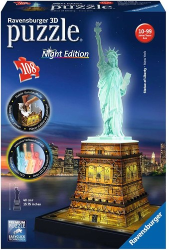 Ravensburger 3D puzzle Statue of Liberty - Night Edition 108p