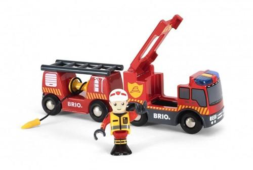 BRIO Camion de pompier son et lumière - 33811