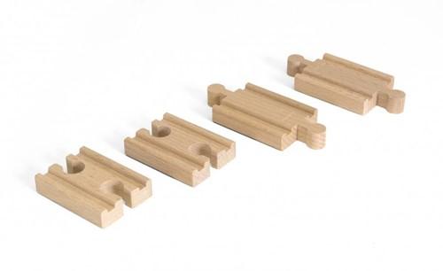BRIO Lot 4 mini rails double mâle / double femelle - 33393
