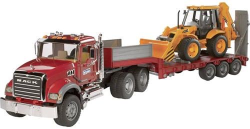 BRUDER MACK Granite Low loader and JCB 4CX véhicule pour enfants