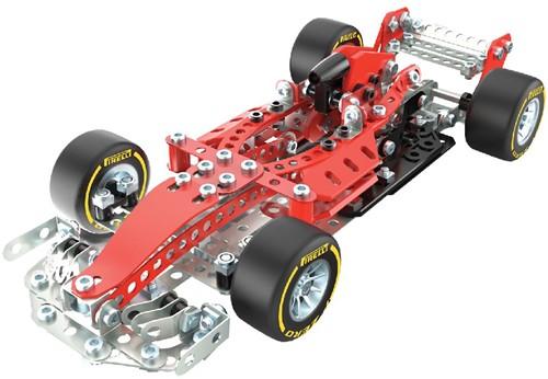 Meccano , Coffret de construction bolide de course Ferrari Grand Prix de la gamme S.T.E.A.M. avec direction fonctionnelle, à partir de 10 ans