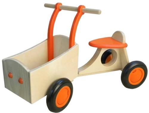 Triporteur en bois orange