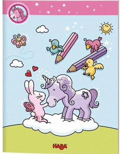 HABA Licornes dans les nuages - Livre à colorier