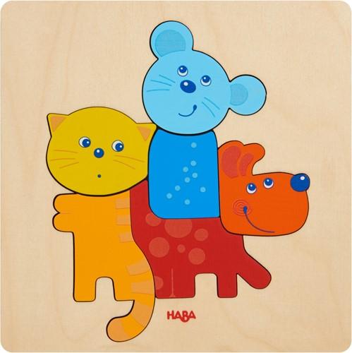 HABA Houten puzzel Huisdieren
