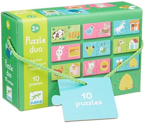 Djeco Puzzle duo habitat