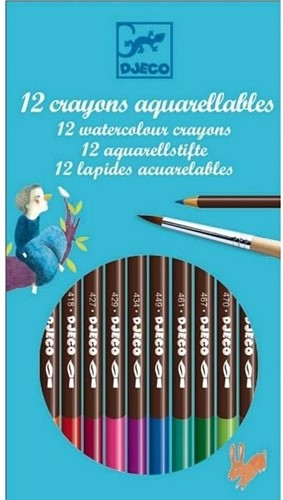 Djeco 12 crayons aquarellables