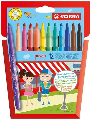 STABILO Power stylo-feutre Moyen Multicolore 12 pièce(s)