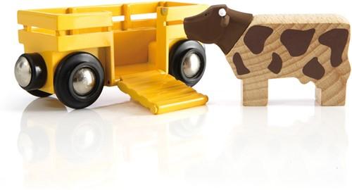 BRIO Wagon transport de bétail - 33406
