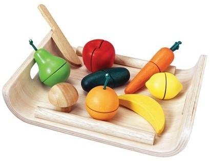 Plan Toys Houten fruit en groente set