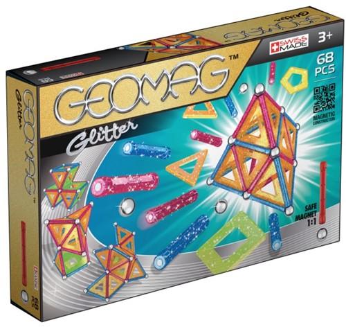 Geomag Panels Glitter 68 pcs jeu à aimant néodyme 68 pièce(s) Multicolore