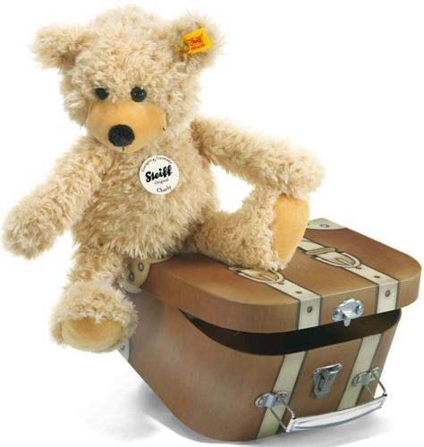 Steiff Ours Teddy-pantin Charly dans sa valise - 30 cm