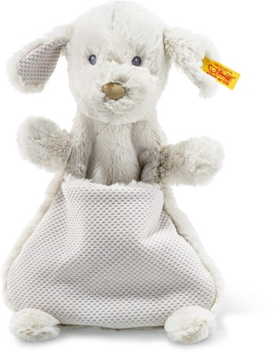 Steiff Soft Cuddly Friends Baster dog comforter, light grey