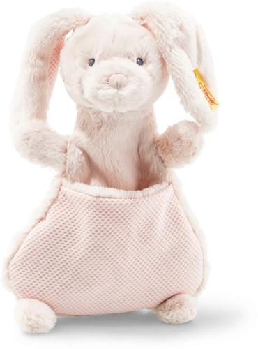 Steiff Soft Cuddly Friends Belly rabbit comforter, pale pink