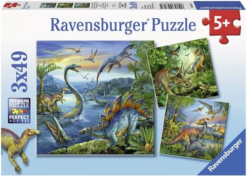 Ravensburger puzzle La fascination des dinosaures 3x49p