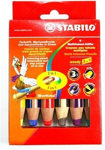 STABILO Woody 3 in 1 crayon de couleur 6 pièce(s)