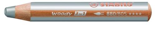 STABILO woody 3 in 1 crayon de couleur 1 pièce(s) Argent