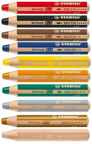 STABILO Woody 3 in 1 crayon de couleur 10 pièce(s)