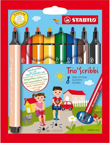 STABILO Trio Scribbi stylo-feutre Bold Multicolore 8, 1