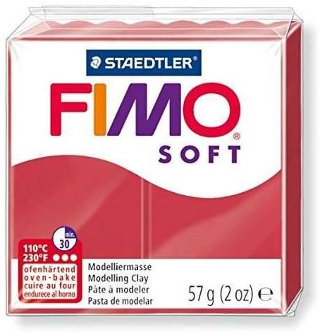 Fimo soft boetseerklei 57g kersrood