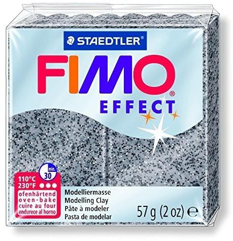 Fimo effect boetseerklei 57g graniet grijs