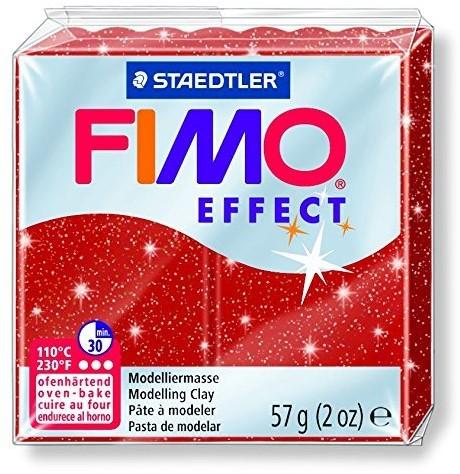 Fimo effect boetseerklei 57g metallic rood