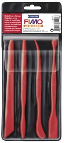 Fimo knutselset 4 boetseerhoutjes in plastic