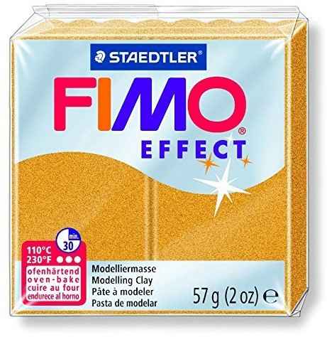 Fimo effect boetseerklei 57g goud