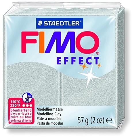Fimo effect boetseerklei 57g zilver
