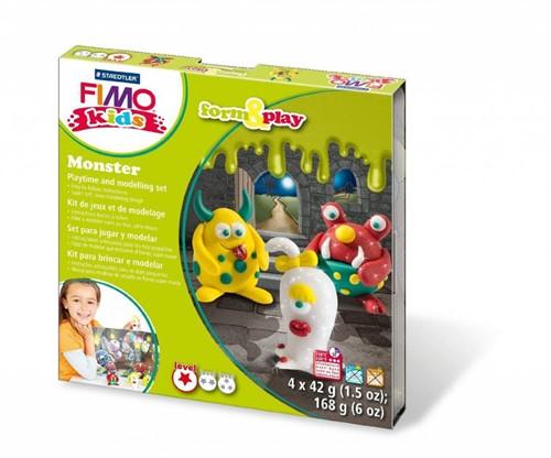 Staedtler FIMO kids 8034 Argile à modeler Vert, Rouge, Blanc, Jaune 42 g 1 pièce(s)