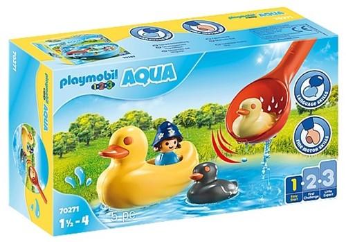 Playmobil Famille de canards et enfant  - 70271