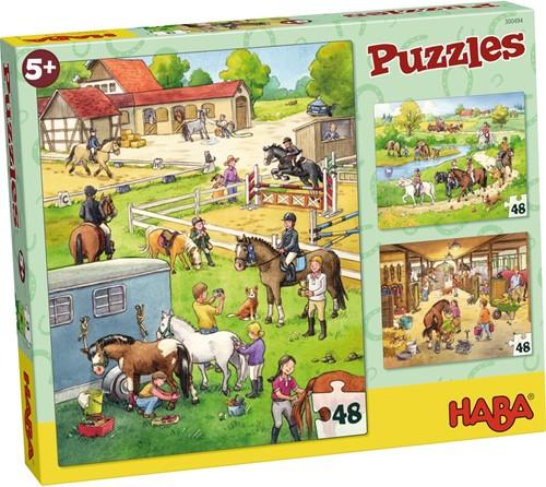 HABA Puzzles - Le centre équestre