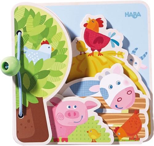 HABA Livre pour bébé Les amis la ferme