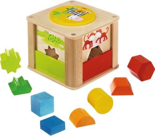 HABA Boîte à formes Les animaux du zoo