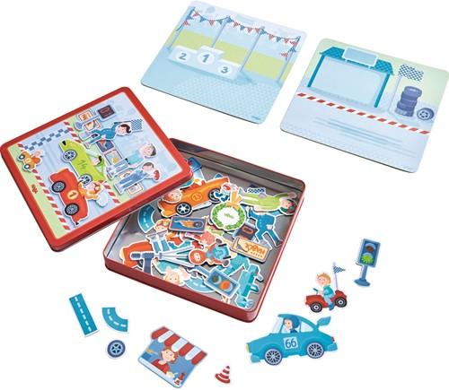 HABA Boîte de jeu magnétique Petits Bolides