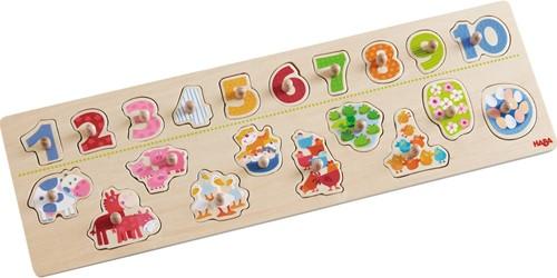 HABA Puzzle Samuser à compter les animaux