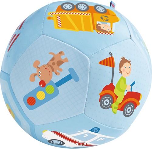 HABA Balle pour bébé Le monde des véhicules