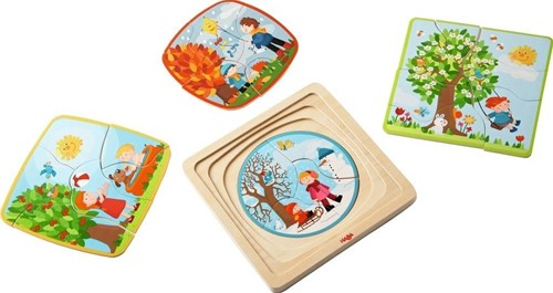 HABA Puzzle en bois Ma saison préférée
