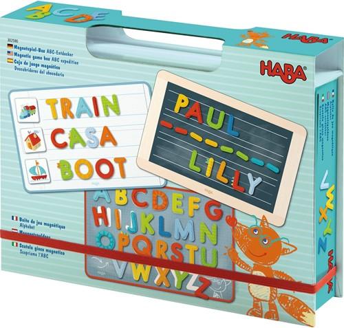 HABA Boîte de jeu magnétique Alphabet