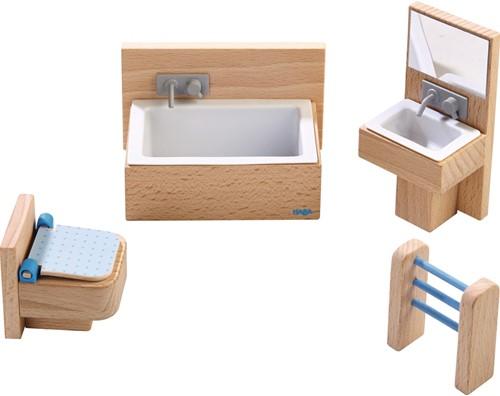 HABA Little Friends - Meubles pour maison de poupée Salle de bain
